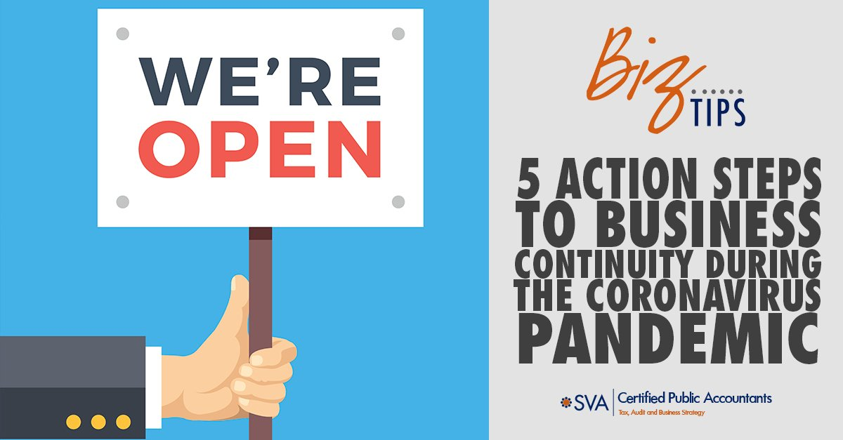 5 Action Steps to Business Continuity During the Coronavirus Pandemic