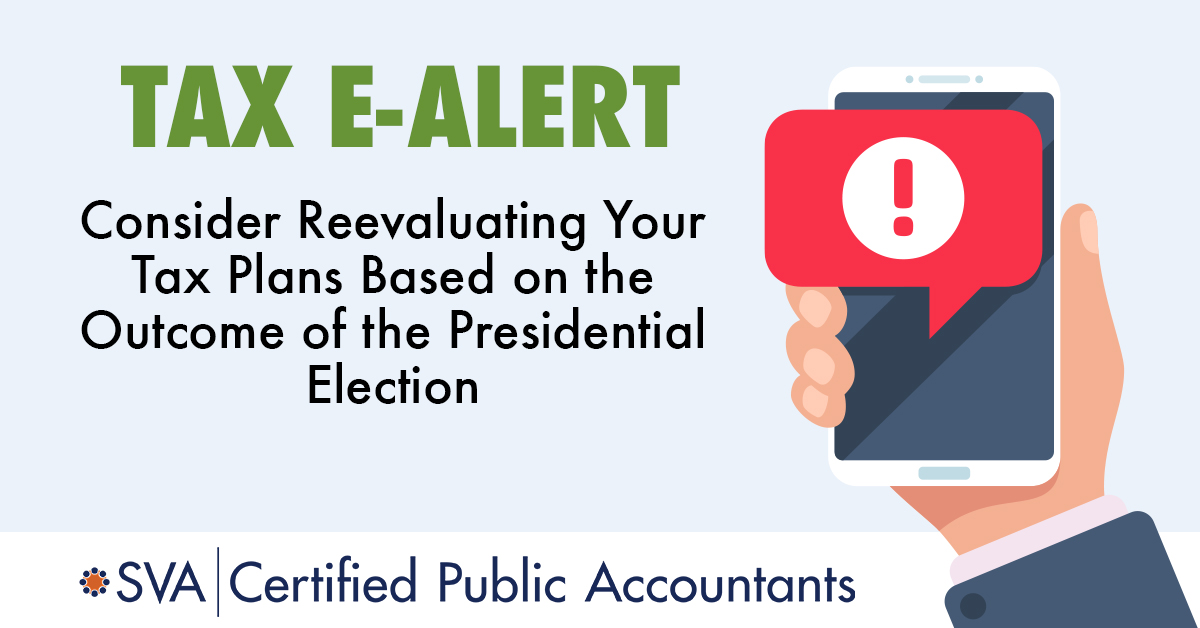 Consider Your Tax Plans Based on the Presidential Election