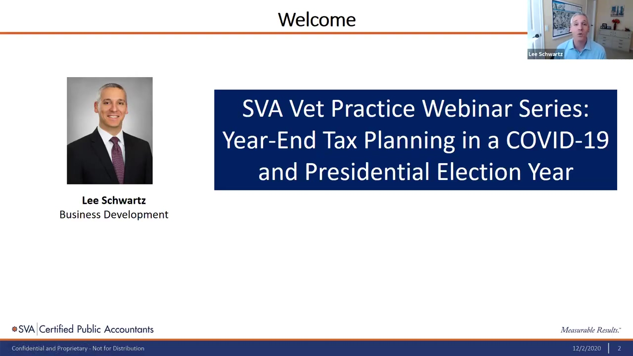 Year-End Tax Planning in a COVID-19 and Presidential Election Year