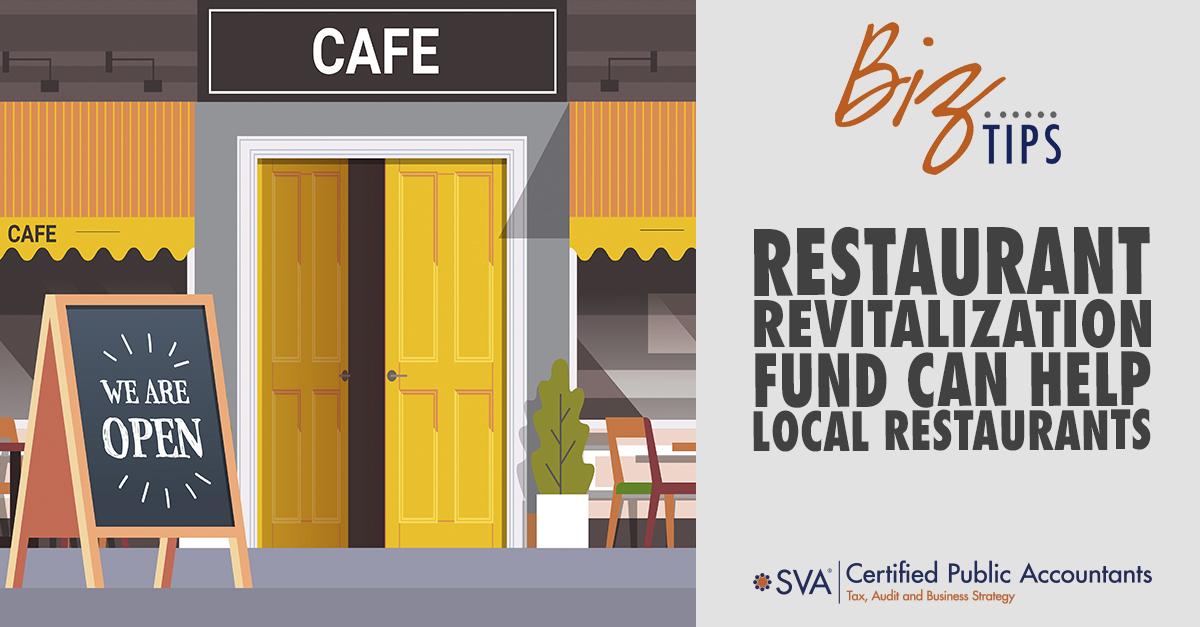 Restaurant Revitalization Fund Can Help Local Restaurants