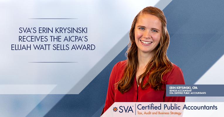 SVA's Erin Krysinski Receives the AICPA's Elijah Watt Sells Award