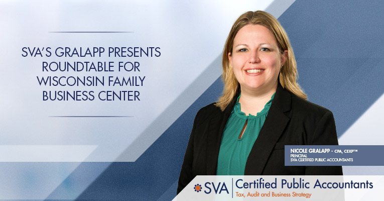 SVA's Gralapp Presents Round Table For Wisconsin Family Business Center