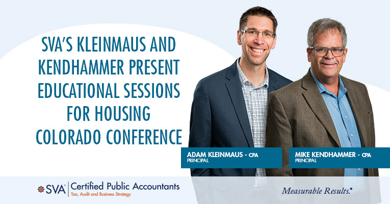 SVA's Kleinmaus and Kendhammer Present Educational Sessions for Housing Colorado Conference