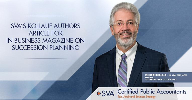SVA's Kollauf Authors Article on Succession Planning