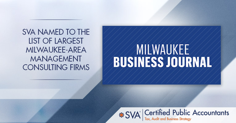 SVA Named to the List of Largest Milwaukee-area Management Consulting Firms