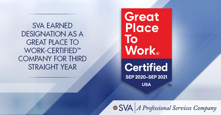 SVA Earned Designation as a Great Place to Work-Certified™ Company For Third Straight Year